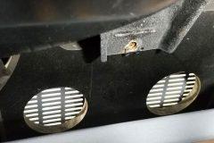 Underside view of front speakers