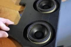 Foam rings seal front speakers to dash