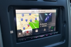 Kenwood eXcelon head unit with Navigation behind