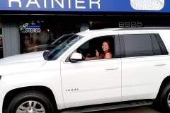 Chanelle and her 2016 Tahoe for Audio upgrades and Apple CarPlay