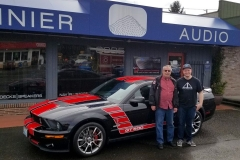 Dennis and his GT 500 Shelby for Audio upgrades