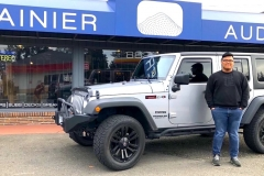 Michael and his Jeep for Stealth Bass