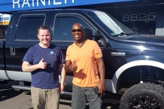 Tony with Logan and his F350 for a complete system