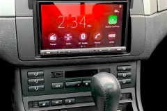 BMW touch-screen with Apple CarPlay after