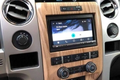 Ford F150 touch screen with Apple CarPlay after